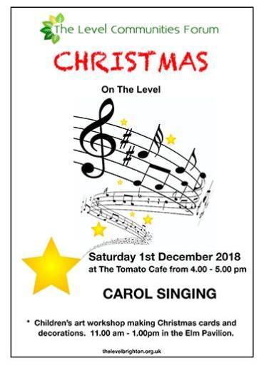 Christmas Carol Singing on the Level 2018 @ Tomato Cafe