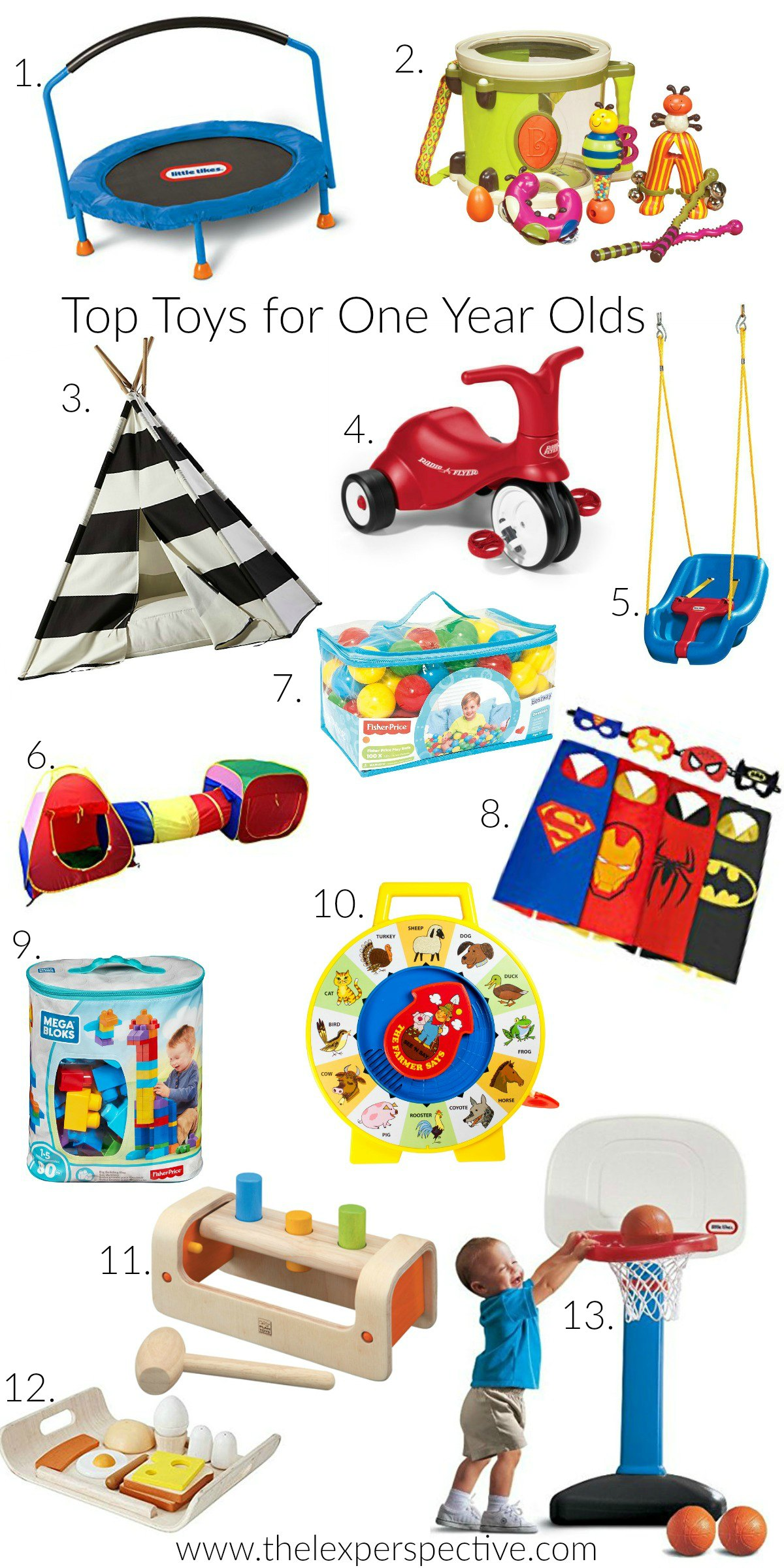 Mood Board Of First Birthday Gift Ideas