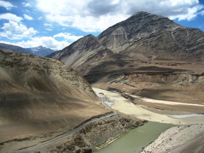 Zanskar and Indus River confluence in Ladakh by Gopal Vijayaraghavan
