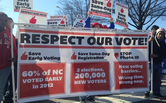 NC voting suppression protest