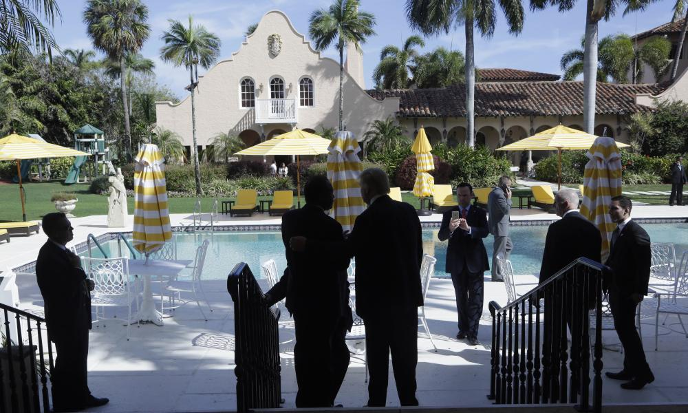 Chilling at Mar-a-Lago.
