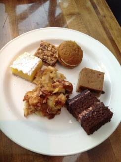 Then for the desserts. Don't worry I just had a nibble of 2 of them... mostly pumpkin themed, a little chocolate and the oatmeal raspberry...