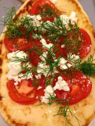 Dill, Goat Cheese, Tomatoes.