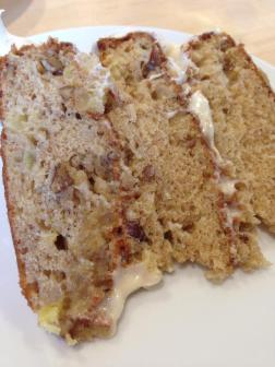 Slice of Hummingbird Cake