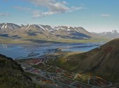 Looking down onto Spitsbergen from our hike