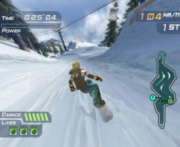 These screenshots don't show off the speed of the game well. Image courtesy of GameFAQs.