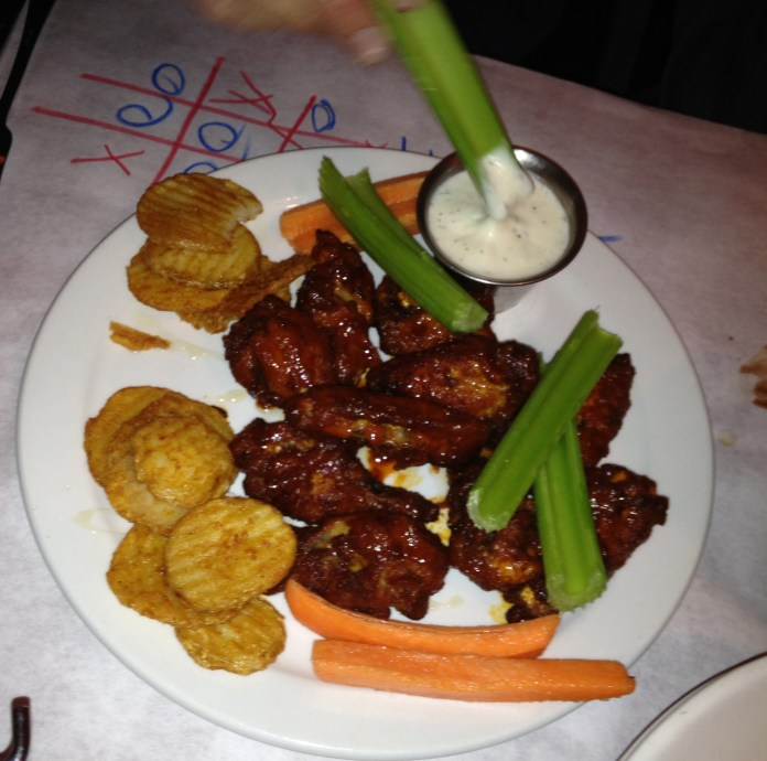 Wings at Blue Moose Pizza