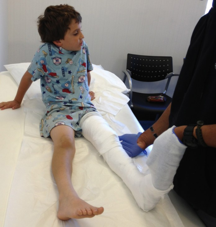 kid in a cast