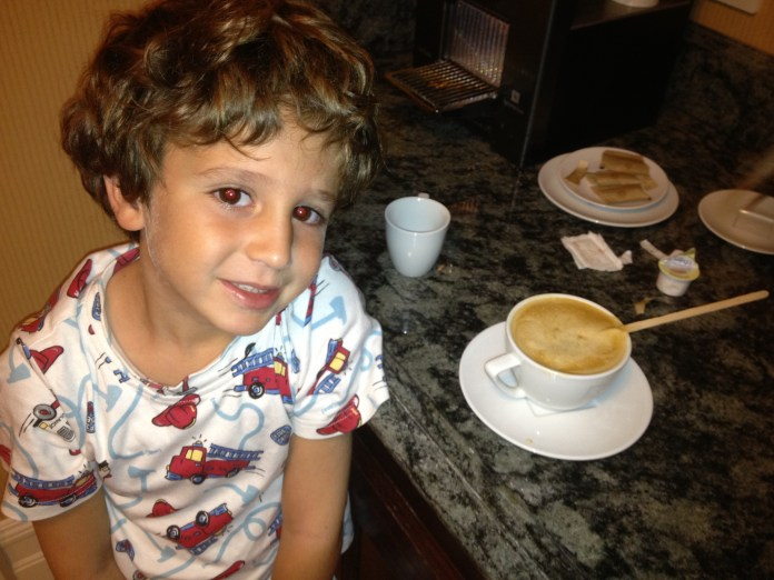 Roc Dillman drinks his cafe