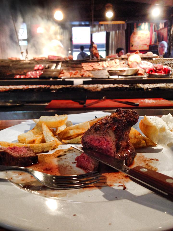 The expertly cooked steak at Palenque in the Port Market.