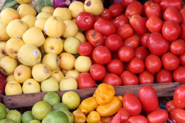 Just a fraction of the fresh food available here.