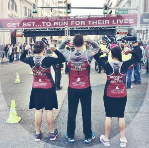 They dedicated their run to a little girl named Annastin who recently had to have surgery for a tumor and is currently undergoing radiation.