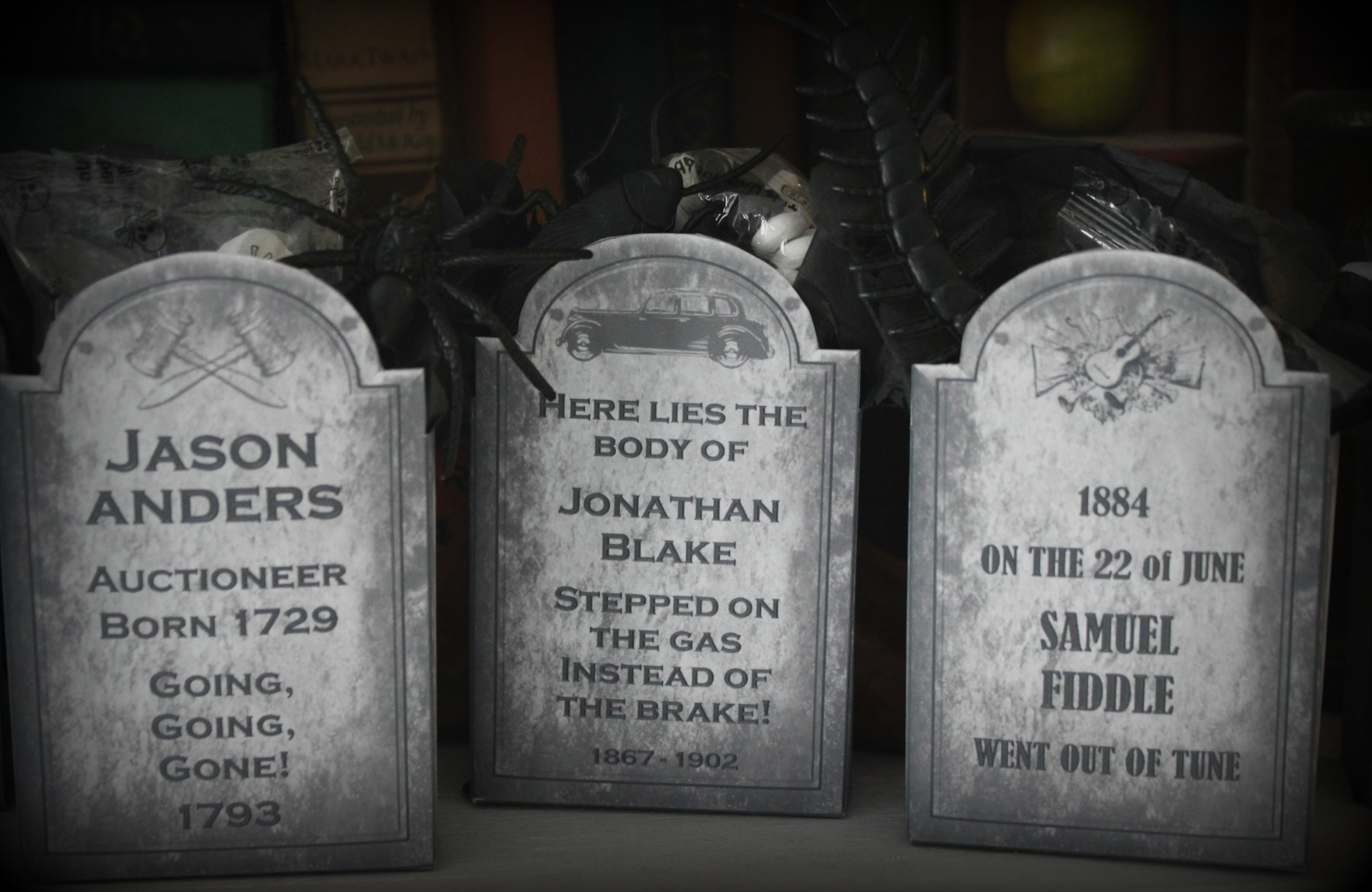 Death By Candy Tombstone Favors The Life Of The Party