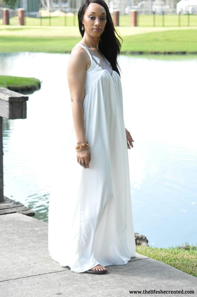 Long white maxi dress 1