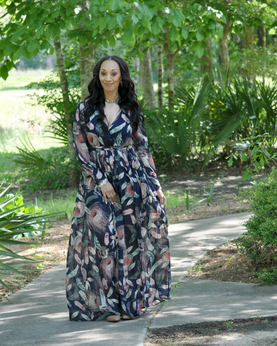 340c4de6cde13c Brunch Date Navy Maxi Dress - The Life She Created Blog