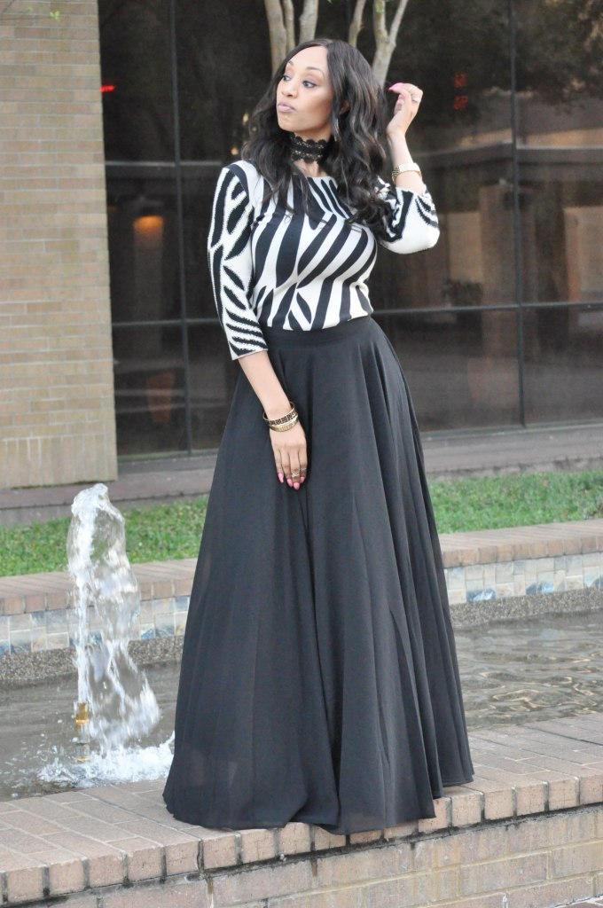 ultimate black maxi skirt versona accessories