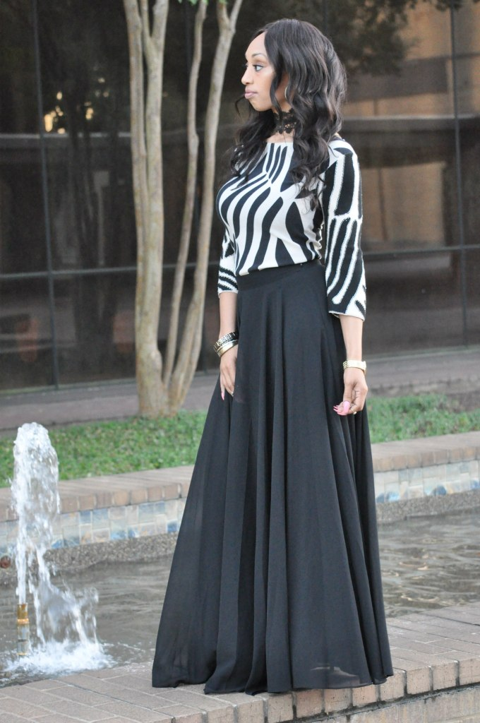 ultimate black maxi skirt