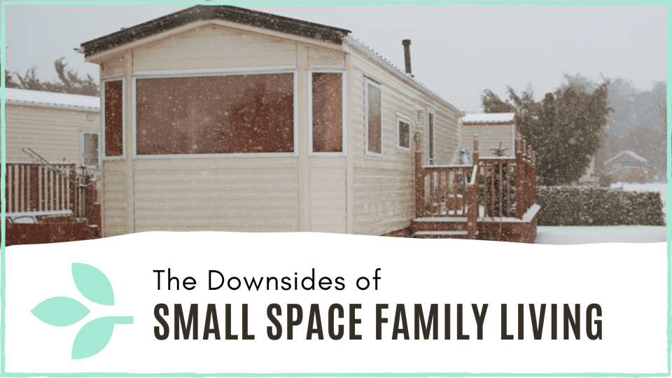 link to 'Downsides of small space family living' blog post