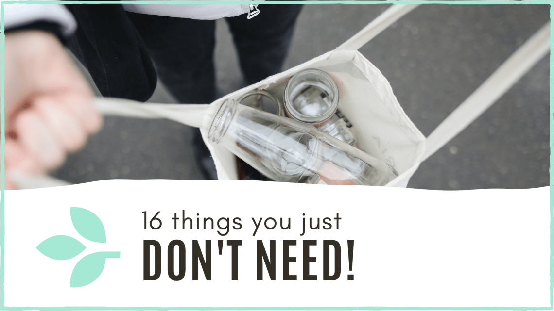 Link to blog post 'things you don't need'