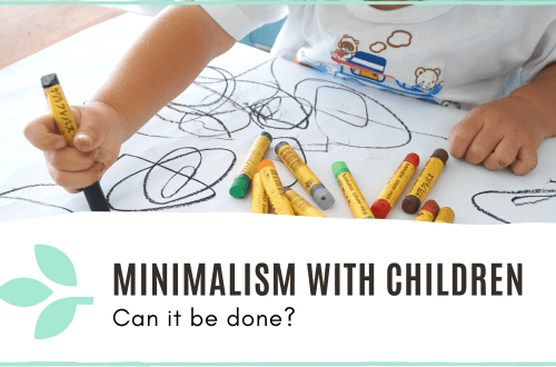 link to blog post 'minimalism with children'
