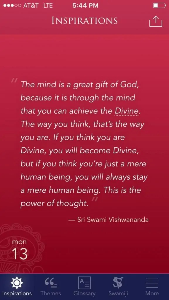 inspirations app by paramahamsa vishwananda