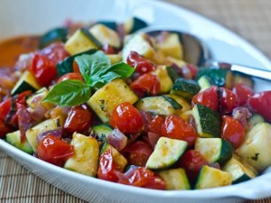 Baked Zucchini and Tomato