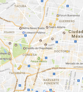 Map restaurants