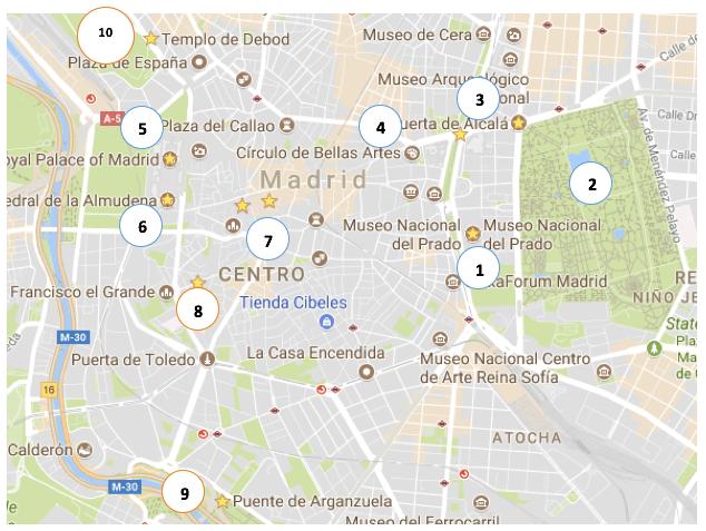 Madrid - Spain - Europe - Map