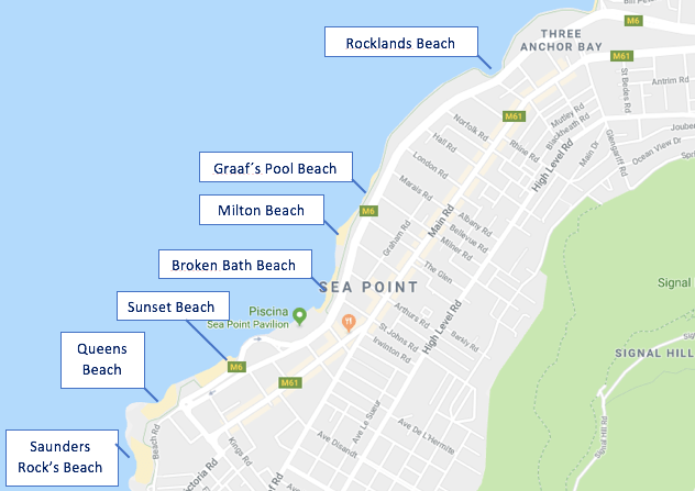 Seapoint Beaches map