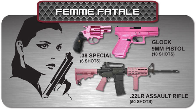 Gun Fun - Cape Town South Africa - femme fatale
