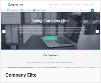 Wordpress theme - Company Elite