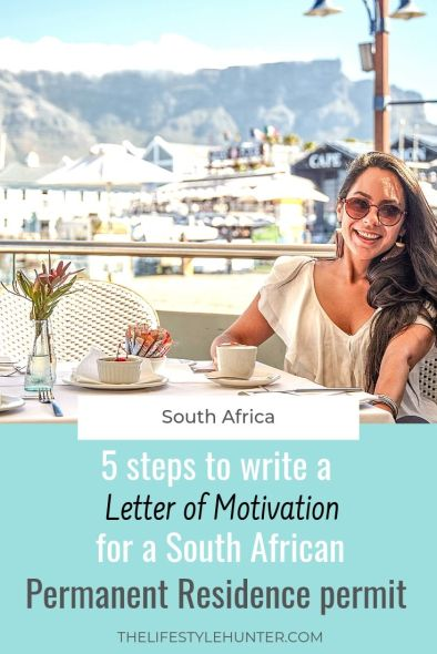 Visa South Africa - Permanent Residence Permit - Letter of Motivation