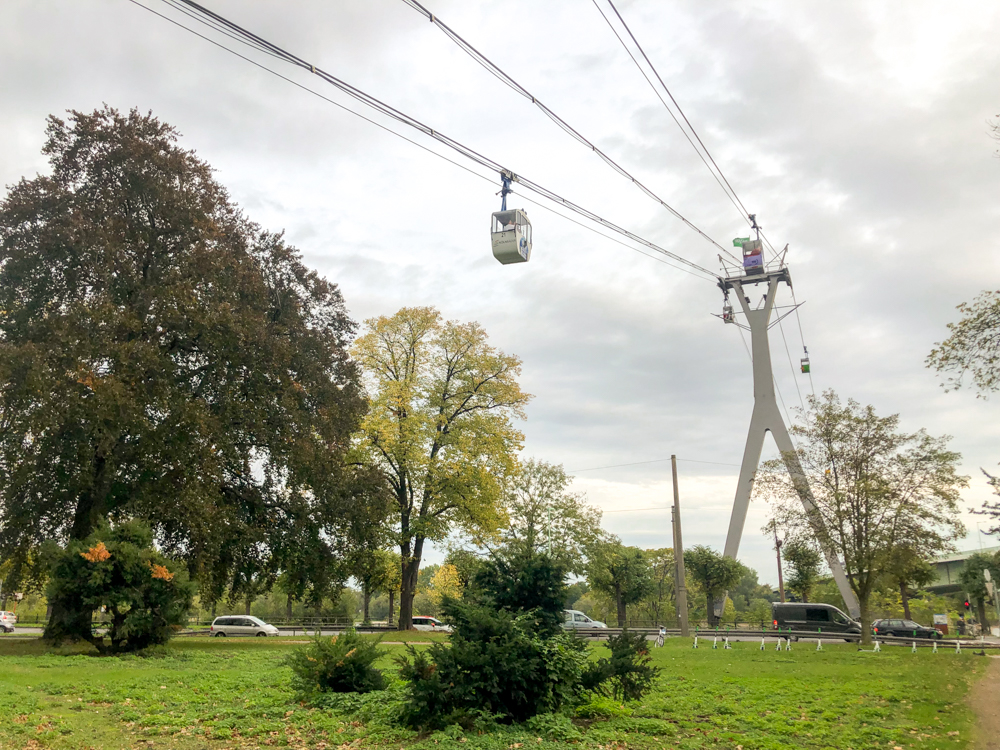 Cable car over the Rhine - Cologne - Germany