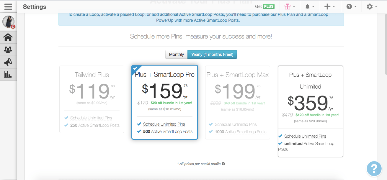 Tailwind SmartLoop Prices