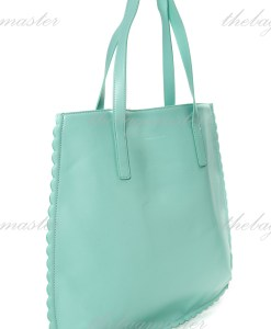 Charles & Keith Scallop Hem Tote Bag Mint Green