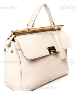 Forever21 Convertible Faux Leather Satchel Bag - White