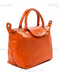 Longchamp Le Pliage Cuir Small - Orange