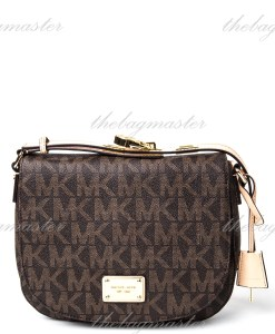 6c1bbe7ac Michael Kors Hamilton MK Signature PVC Messenger Crossbody Bag - Luggage  Brown