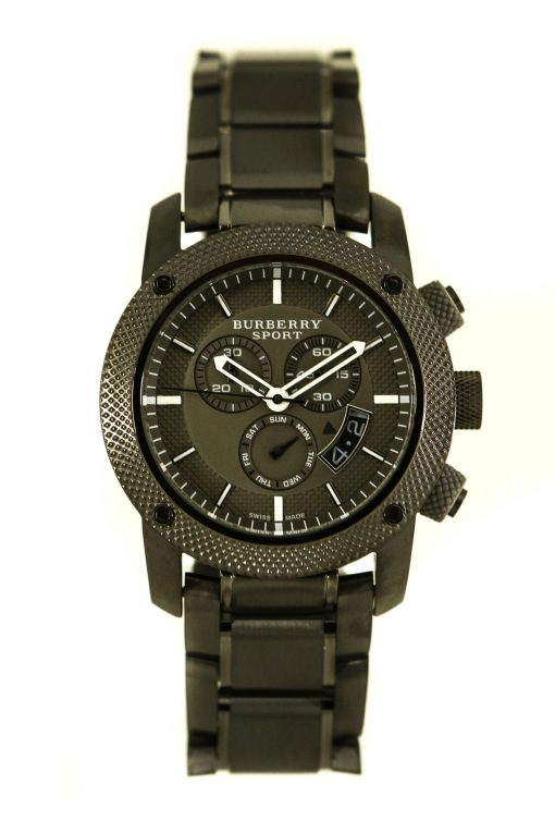 Burberry Sport Chronograph Grey Dial Grey Ion-plated Men's Watch BU7716