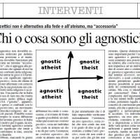 Chi o cosa sono gli agnostici?