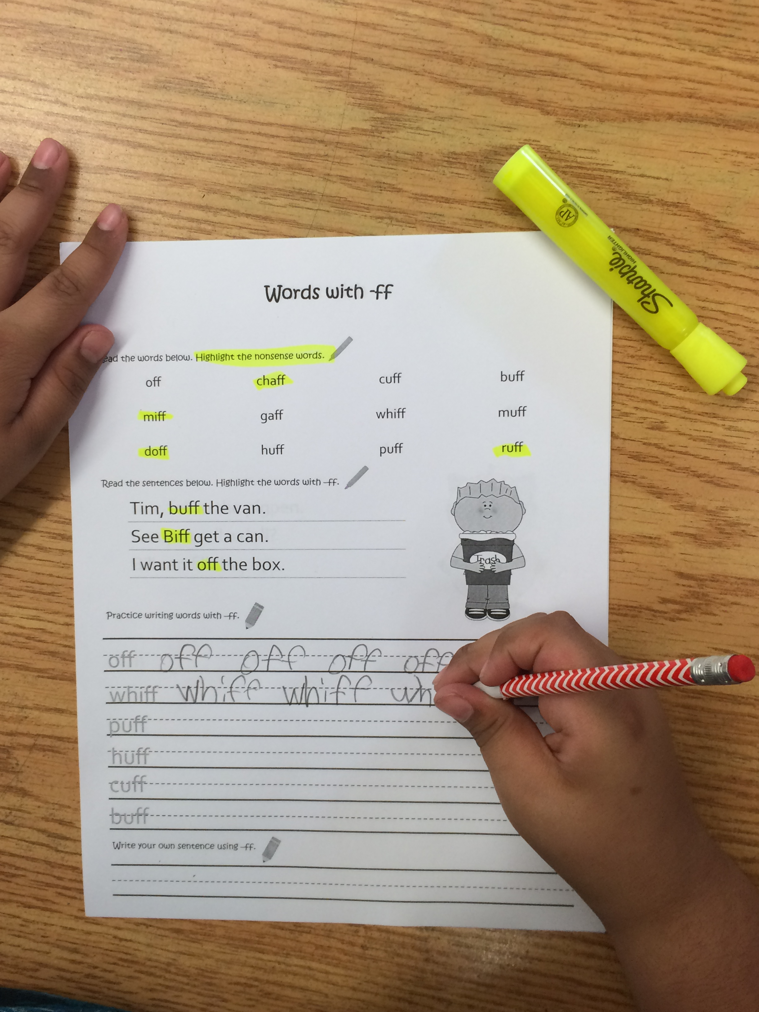 Double Consonant Spelling Rule Worksheets The Light Bulb