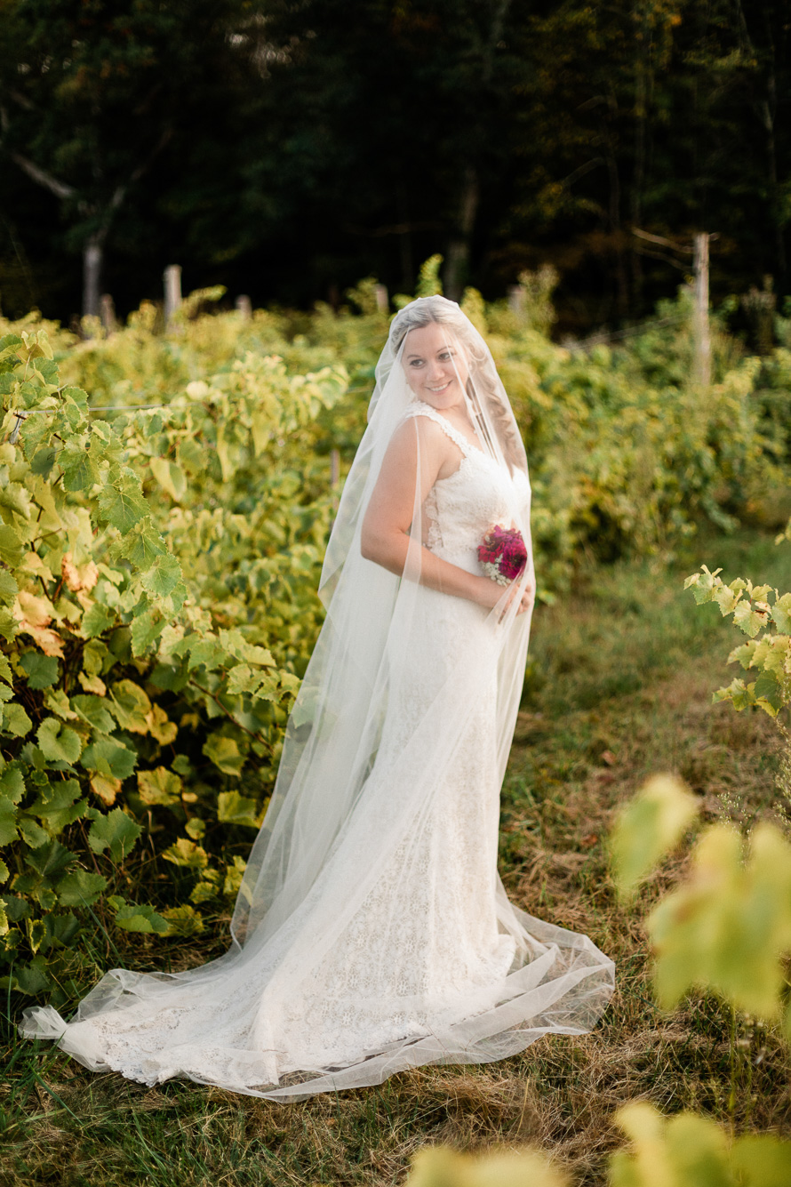 Bride Portrait at Chateau le Gari Vineyard