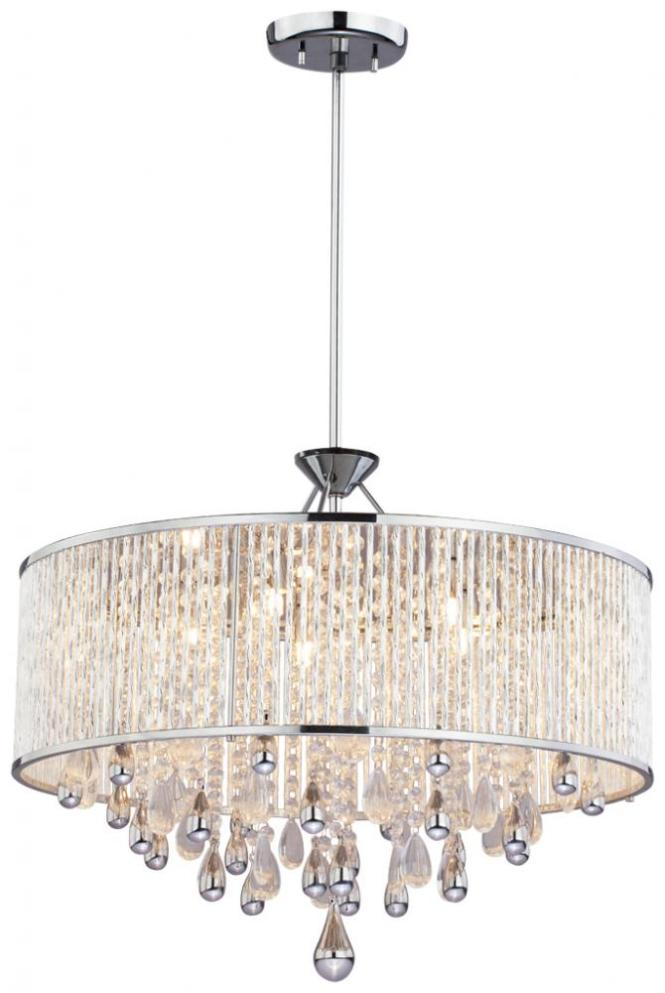 Drum Shade Pendant Chandelier  Chandeliers Design