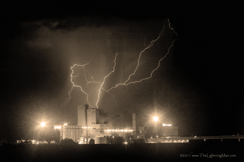 Budweiser Powered by Lightning sepia 800s Anheuser Busch Budweiser Brewery Powered by Lightning Sepia Image
