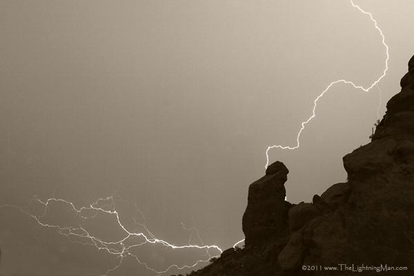 The Praying Monk Lightning Strike