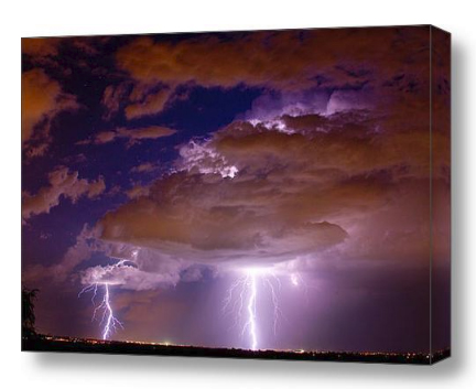 Double Trouble Lightning Strikes Fine Art Photography print and Canvas Art (C) 2011