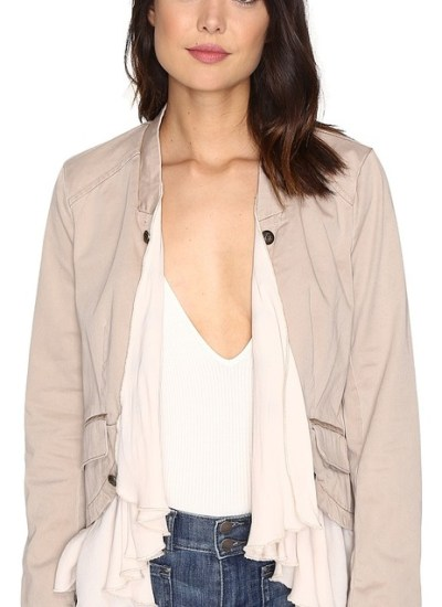 Romantic Ruffles Twill Jacket