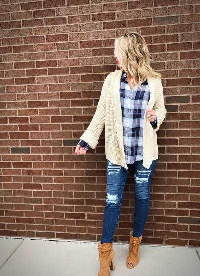 Chunky Knits and Plaid : About A Look