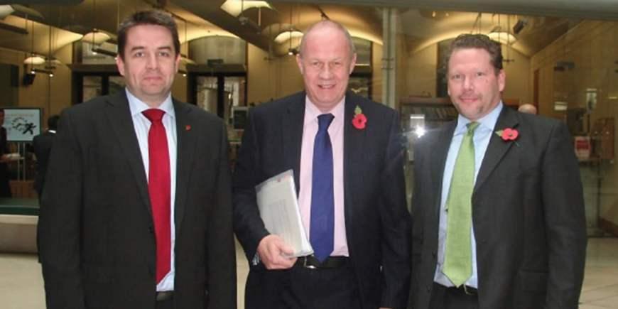 KM-with-Richard-Davies-and-Damian-Green-Nov12