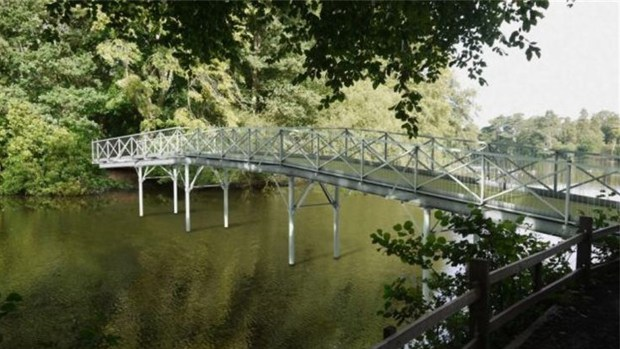 Designs of the new White Bridge at Hartsholme Park